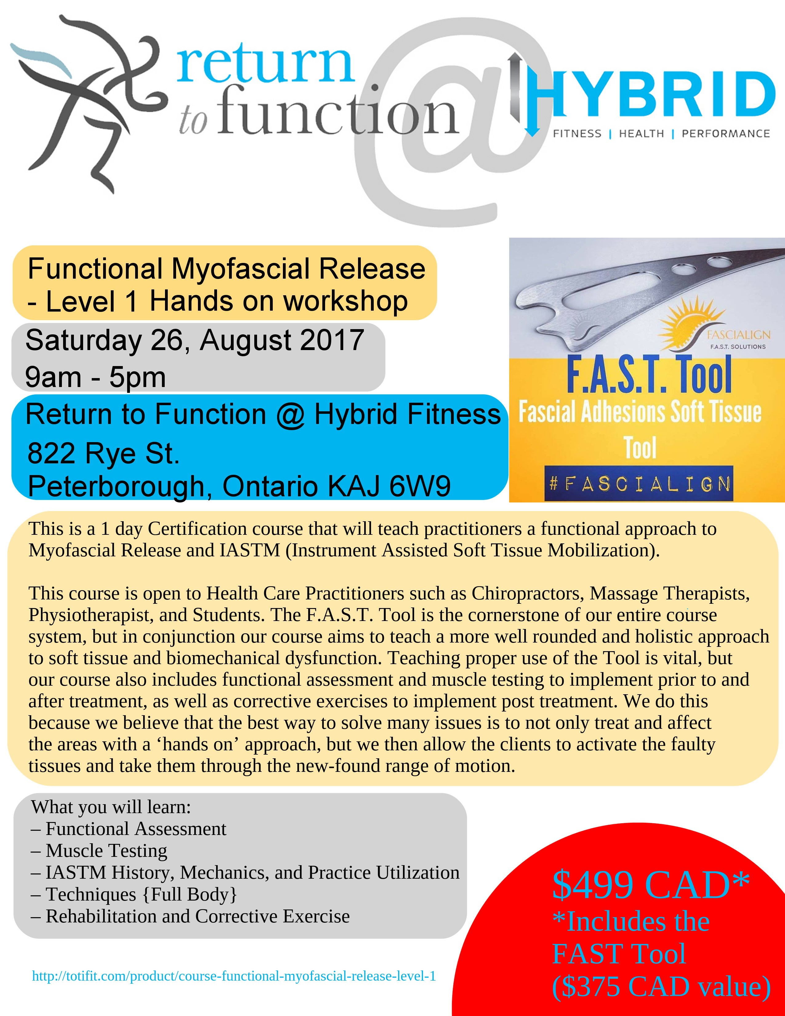 Functional Myofascial Release Level 1 Totifit Institute For